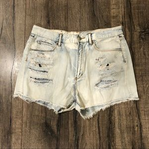 Articles of Society High Rise Distressed Shorts 30